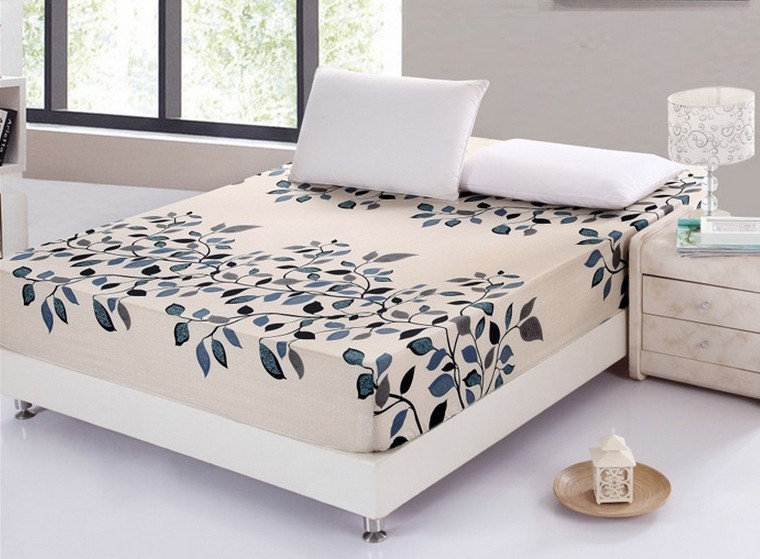 √100% algodón sábana ajustable banda elástica hoja de cama