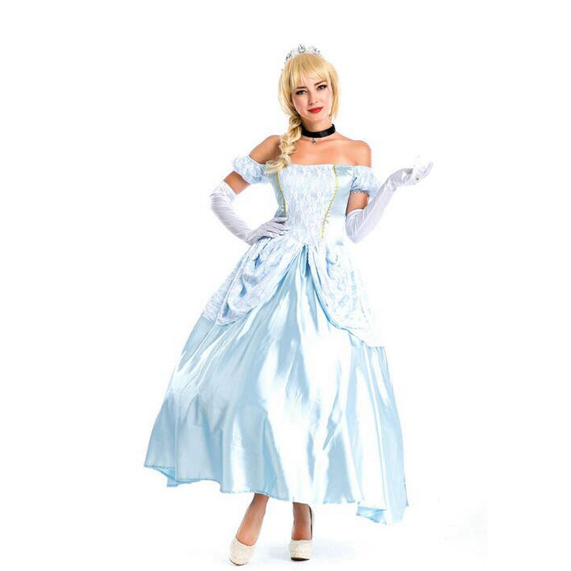 Hot Sale Sissi Dress Snow White Dress Ella Enchanted Cosplay Halloween Costume Sexy Costumes Party Decorations And Articles-In Sexy Costumes From -2721