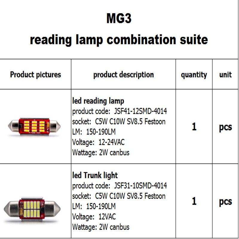 JSTOP 2 ədəd / MG3 avtomobil oxu lampaları c5w canbus günbəz - Avtomobil işıqları - Fotoqrafiya 2