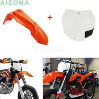 Enduro MX Front Fender Number Plate Kit Motocross Mudguard Protector For KTM EXCF/XCFW/SXS/XCW/XCF/SXF/EXC/SX/XC 125/250/300/450