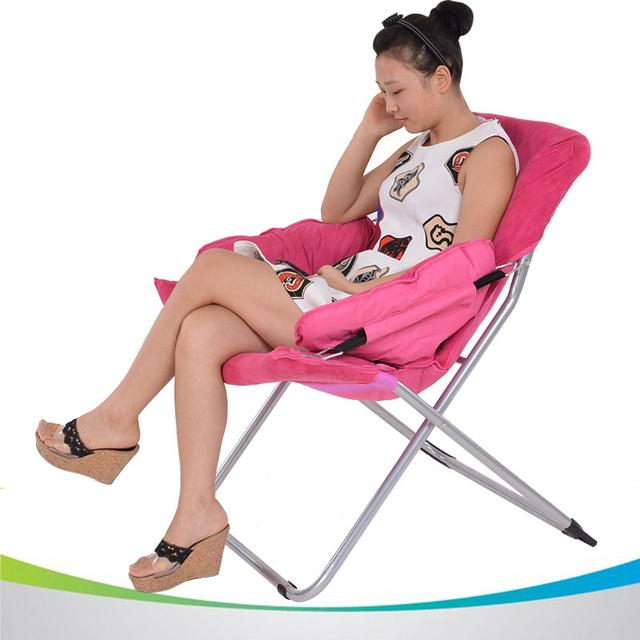Deluxe Cadeira de Sol Lua Sol Cadeiras Espreguiçadeiras Ao Ar Livre Tecido de Algodão Super Macio Multicolor Varanda Lazer Cadeiras Dobráveis