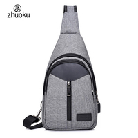 Crossbody Men And Women Bag Hot Selling USB Charging Smart Anti Theft Shoulder Bags Messenger Chest