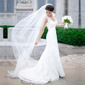 Simple 2 M Tulle Wedding Veils 2016 Long Ivory Garden Bridal Veils Wedding Accessories velos de novia V72