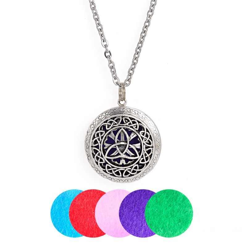 10 шт. старинное серебро 25 мм чувствовал Pad три цветка ароматерапия полые эфирное масло Мула мантра диффузор Lo ожерелья для подарок
