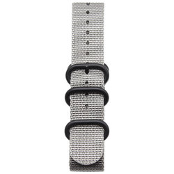 20 22mm Solid gray nato fabric Nylon Watch watchbands Woven Zulu Straps Bands Black Buckle belt 18 mm For dw Seiko watchband.