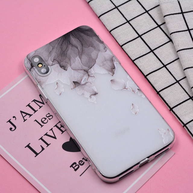 Xix 2017 New Arrivals For Funda I Phone 6 S Case 5 5 S 6 6 S 7 8 Plus X 3 D Relief Flowers Soft Silicone Tpu Cover For I Phone 7 Case by Xix