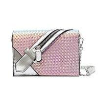 PU Laser Small Mini Flap Bag Women Messenger Bags Chain Serpentine Bolsa Luxury Handbags Women Bags