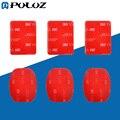 PULUZ Go Pro Аксессуары 3 Плоские Наклейки + 3 Изогнутые 3 М VHB Клей Pad Наклейки для GoPro HERO5/HERO4 Сессии/HERO 5/4/3