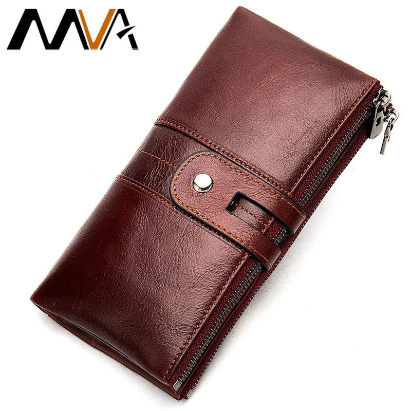 MVA Wallet Women Genuine Leather Bag Female Womens Wallets and Purses Long Women's Coin Purse Card Holder Clutch Money Bag 8560