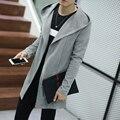 Camisola dos homens 2016 Novo Plus Size Outono Slim Fit Cardigan homens Simples Casuais Com Capuz Camisola Dos Homens Longos Cardigans 4 Cores 5XL-M