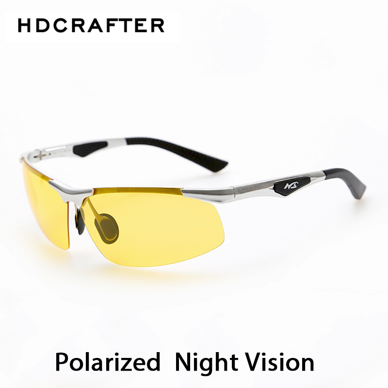 Nattkjøring Nytt HDCRAFTER Anti-Glare Goggles Eyeglasses Polarized Driving Solbriller Gul Lens Night Vision Driving Glasses