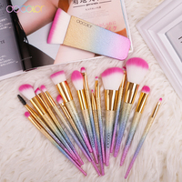 Docolor 17pcs Brand Makeup Brushes With Box Best Christmas Gift Contour Blush Powder Foundation Brushes And