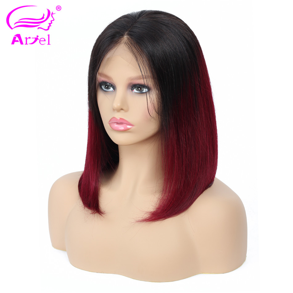Ombre Lace Front Wig 1b 99J Pink Bob Lace Front Wigs 13 4 Lace Front Human