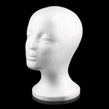 Практичная пена женская голова манекена парики очки крышка Дисплей держатель стенд модель Прямая поставка парик голова с подставкой подставка для парика