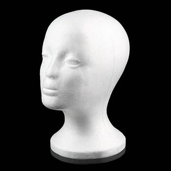 Pelucas para cabezas de maniquí femeninas de espuma práctica tapa de gafas soporte de exhibición modelo Envío Directo cabeza de peluca con soporte para peluca