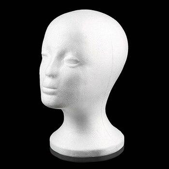 Práctica espuma mujer maniquí cabeza pelucas gafas tapa pantalla soporte modelo gota envío