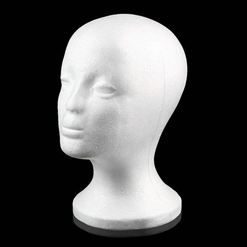 Prácticas pelucas para cabezas de maniquí femeninas de espuma, tapa de gafas, soporte de exhibición, soporte, modelo, caída de envío, cabeza de peluca con soporte para peluca