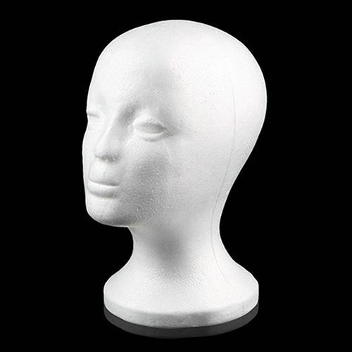 Практичная женская голова манекена парики из пенопласта, крышка для очков, держатель для дисплея, модель, Прямая поставка, голова парика с п...