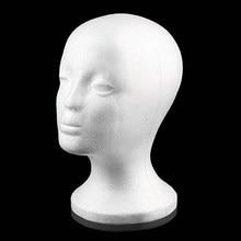 Soporte práctico de espuma para pelucas para cabezas de maniquí, soporte de exhibición para gafas, modelo de cabeza de peluca, envío directo, con soporte para peluca