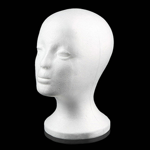 Practical Foam Female Mannequin Head Wigs Glasses Cap Display Holder Stand Model Drop Shipping wig head with stand wig holder