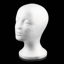 Practical Foam Female Mannequin Head Wigs Glasses Cap Display Holder Stand Model Drop Shipping(China)
