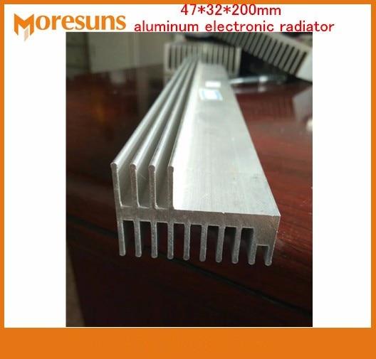 Fast Free Ship 2pcs/lot aluminum radiator width 47mm,high 32mm,length 200mm heatsink 47*32*200mm aluminum electronic radiator цена 2017