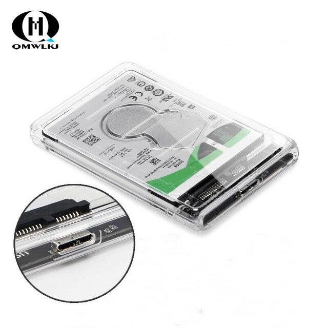 SATA إلى USB موبايل محرك أقراص صلبة صندوق USB 3.0 2.5 قرص صلب SSD الميكانيكية القرص علبة صلبة مع كابل يو اس بي