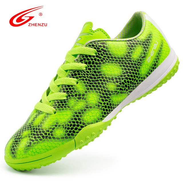 ZHENZU Chuteira Futebol Scarpe Da Calcio Turf Indoor Kids Soccer Boots Soccer Boots Boys for Children Teenagers, Size 31-39