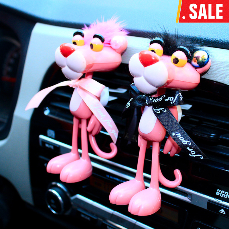 Car inside adorn the decoration of a lovely pink panther mirror hang the decoration of the perfume decoration