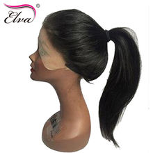 Elva Hair 180% Density 360 Lace Frontal Wigs Pre Plucked With Baby Hair 10″-22″ Natural Color Brazilian Remy Hair Straight Wigs