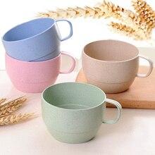Wheat Fiber Straw Coffee Cup Lovely Cute Cafe Tea Milk Breakfast Couple Fashion Drinking High Drinks Water Cups