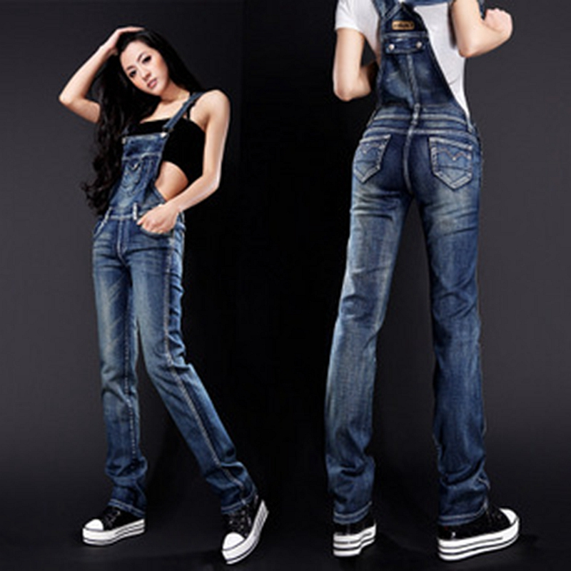 Lguc.H 2018 Denim Women's Overalls Trendy Tight   Jeans   Woman Push Up Cowboy Jumpsuit Suspender Trouser Korea Female Clothes XXL S