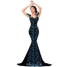 2016 Yeni Bayanlar mermaid Uzun Pullu Elbise Kız Seksi Yaz Abartma Meydanı Yaka Parti Elbiseler Zarif Mermaid Önlük 60844