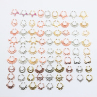 2016 Top Quality Mixed Crystal Fake Nose Ring Fake Septum Piercing Hanger Clip On Body Hoop