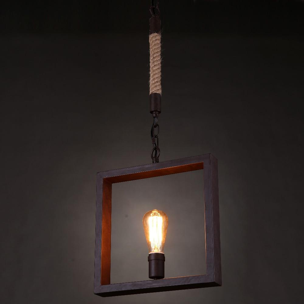 Retro Hand Knitted Hemp Rope iron Pendant Lamp Lights Loft Vintage Restaurant Master Bedroom Dining room other bedrooms bar