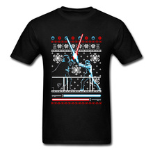 Lasting Charm Star Wars Christmas Men Sports  T-shirt Fighter Xmas Gift Shirts Darth Vader Sweater Black(China)