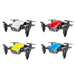 S9HW Mini Drone Com Câmera S9 Nenhuma Câmera Helicóptero RC Drones Altitude Hold Dobrável Bolso Wi-fi FPV RC Quadcopter Dron