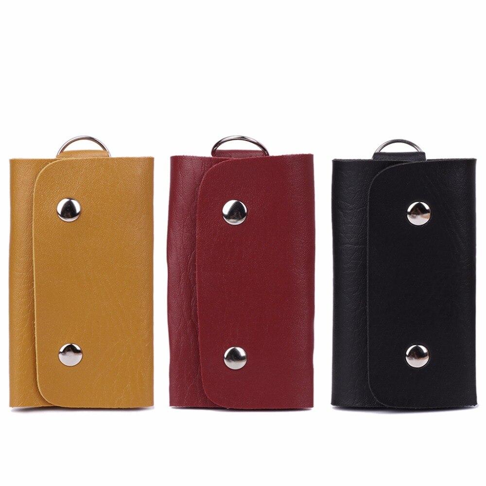 THINKTHENDO New Design Fashion Unisex Faux Leather Car Key Holder Case Bag Key Chain Key Wallets With 6 Key Holder 3 Color костюм key fashion