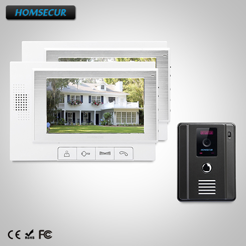 HOMSECUR 7 Video Door Phone Intercom System+IR Night Vision For Home Security TC011-B+TM702-W HOMSECUR 7 Video Door Phone Intercom System+IR Night Vision For Home Security TC011-B+TM702-W