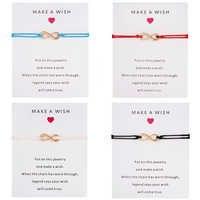 Belleper 2019 venda quente moda red thread string pulseiras mulheres fazer um desejo sorte presente de aniversário ajustável tecer pulseira