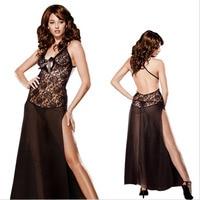 Sexy Lingerie Long Dress Sleepwear Plus Size XXL 3XL 6XL Nightgown For Women 2017 Nightwear Lady