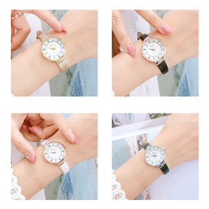 Image 4 - KEZZI Brand Simple Women Leather Watches Fashion Crystal Small Quartz Watch Ladies Waterproof Wristwatch For Women Reloj Mujer