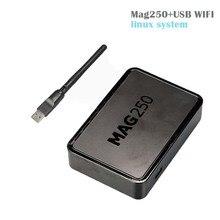 10 pcs Linux mag250 IPTV boîte + Usb Wifi Set Top Box soutien Câble Pas comprennent IPTV compte Mag 250 tv set top boîte