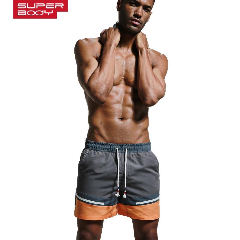 Sportet e verës për meshkuj që mbajnë pantallona plazhi Shirita - Veshje sportive dhe aksesorë sportive - Foto 2