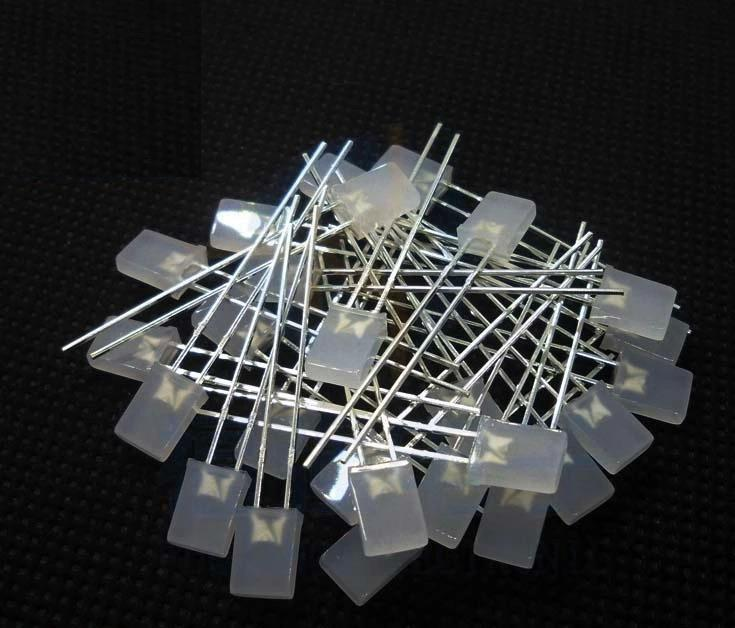 1000pcs/lot  2 * 5 * 7MM 2X5X7MM Square Red Mist Red LED Light-emitting Diode Light Cube Special Use