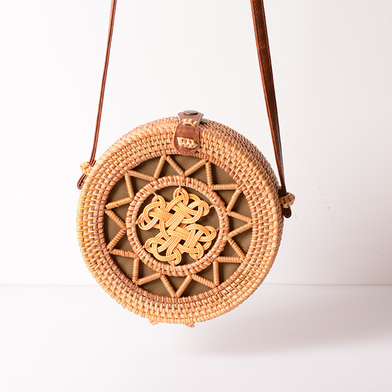 Square Round Mulit Style Straw Bag Handbags Women Summer Rattan Bag Handmade Woven Beach Circle Bohemia Handbag New Fashion 30