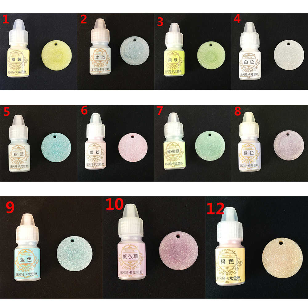 1Pcs New 3ml Candy Color Macaron Powder Resin Pigment Dye 11 Colors UV Resin Epoxy DIY Making Crafts Jewelry Accessories