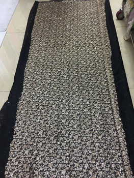 stock 5yards   HQ251#   Dense flower   flash powder lace fabric for bridal wedding dress/sawing Free shipping