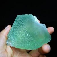 277 г тонкой камень натуральных редких минералов зеленый флюорит Исцеление шестиугольник wand Кристалл B12 19CMK