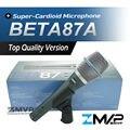 Бесплатная Доставка! реальные Конденсаторный Микрофон BETA87A Высокое Качество Бета 87A Суперкардиоида Вокальный Караоке Ручной Микрофон Майк Mic